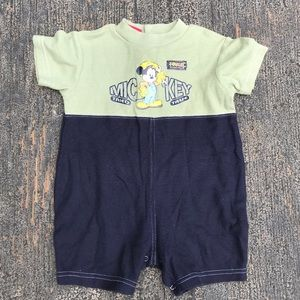 Disney Team Mickey boys romper. 18 Months